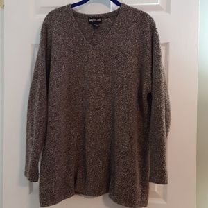 Style & Co. Brown and white sweater